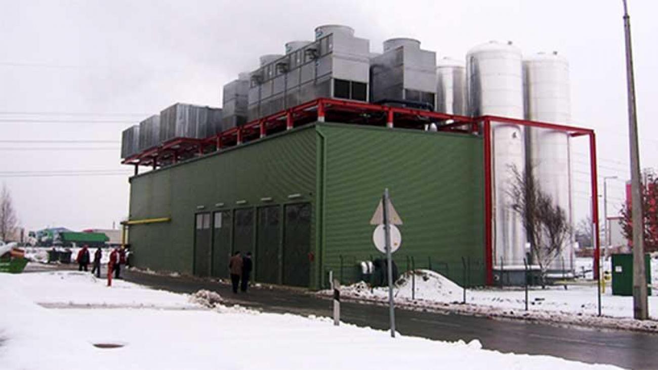 Coca-Cola palackozó üzem villamos-, hő- és hideg energia ellátása